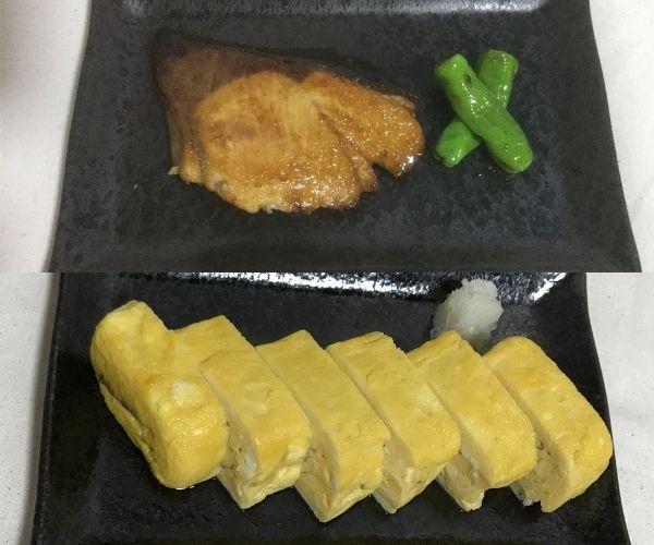 [ロジカル和食]で作った「ブリの照り焼き」と「厚焼き卵」