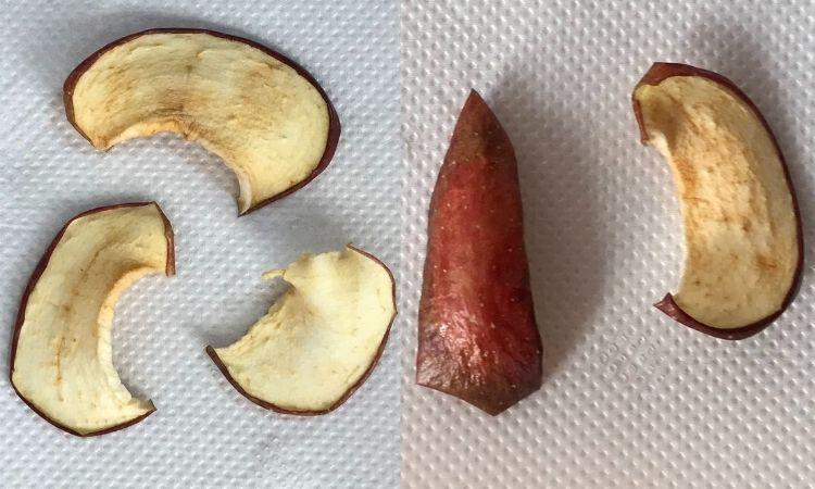 5日間干したりんご