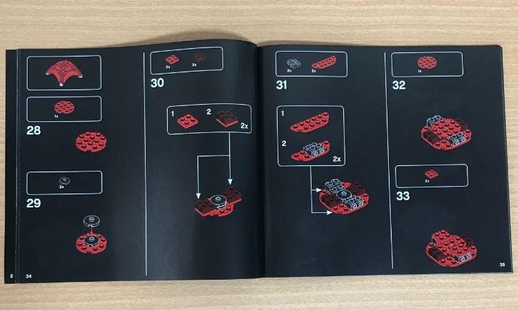 レゴの説明書の内容-作り方がイラストで説明されている