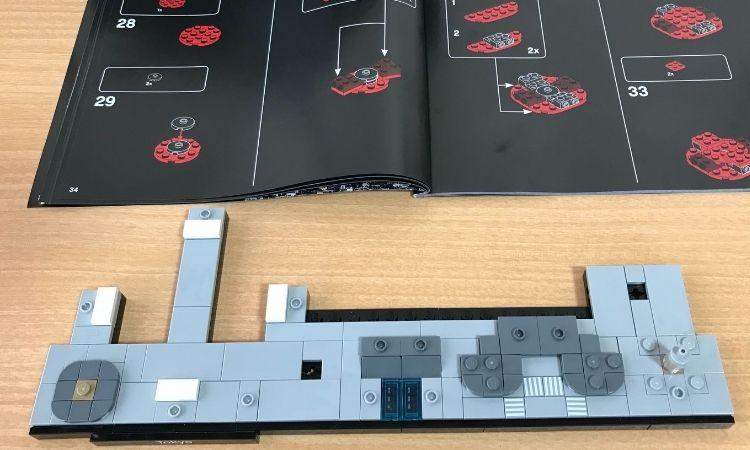 レゴアーキテクチャ東京の下の土台部分