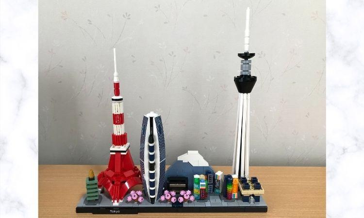 レゴアーキテクチャ東京21051の完成形